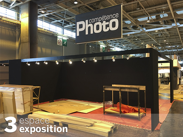 Le stand de Compétence Photo au Salon de la Photo à J-2