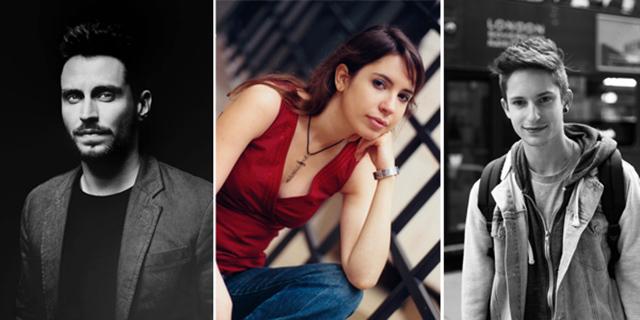 De gauche à droite : Lorenzo Mancini, Diane Dufraisy et Maxime Franch.
