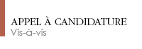 Appel à candidature GEX 2016